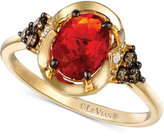 LeVian Le Vian Chocolatier® Fire Opal (5/8 ct. t.w.) and Diamond (1/5 ct. t.w.) Ring in 14k Gold