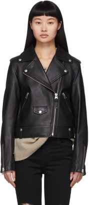 Mackage Black Baya R Perfecto Leather Jacket