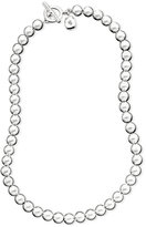 "Lauren Ralph Lauren 16"" Silver-Tone Metal Bead (8 mm) Necklace"