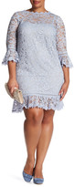 ABS by Allen Schwartz Lace Bell Sleeve Dress (Plus Size)