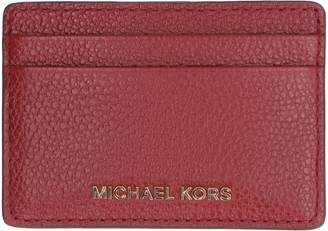 MICHAEL Michael Kors Pebbled Calfskin Card Holder