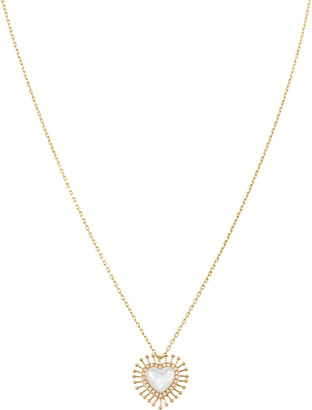 L'Atelier Nawbar All Hearts On Me 18K Yellow Gold Mother-Of-Pearl Diamond Necklace