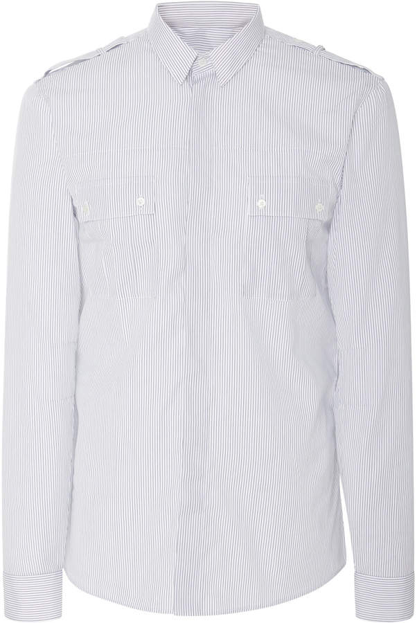 Balmain Pinstriped Cotton-Poplin Shirt