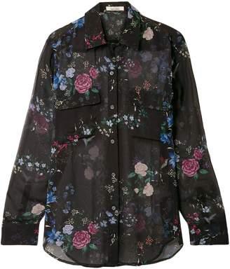Equipment Daddy Floral-print Silk-chiffon Shirt