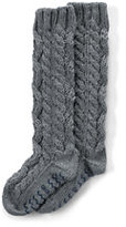 Classic Women's Hand Knit Slipper Socks-Mica Heather
