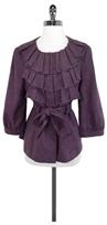 Tabitha Anthropologie Purple Wool Blend Jacket