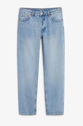 Monki Mokonoki mid blue jeans
