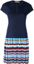 Mary Katrantzou pleated polo dress - women - Viscose - M