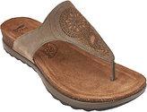 Dansko Patterned Leather Thong Sandals -Priya
