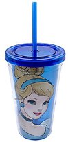 Disney Silver Buffalo DP16087Z Cinderella Portrait 16-Ounces Lzr Cold Cup with Lid & Straw