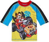 Disney Boys Mickey Mouse Solid Rash Guard-Big Kid