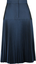 Suno Pleated twill skirt