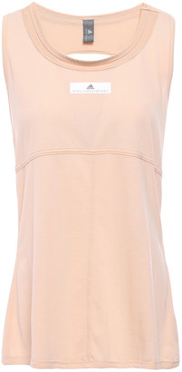 adidas by Stella McCartney Cutout Printed Jersey Tank