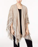 Eileen Fisher Wool-Blend Fringe-Trim Poncho