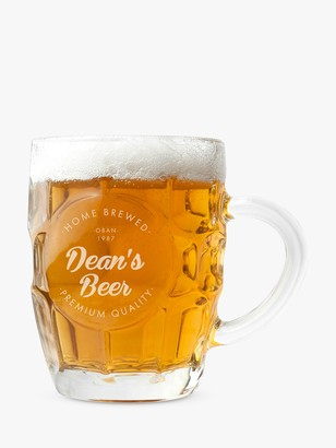Treat Republic Personalised Home Brew Beer Glass, 568ml