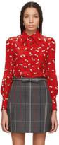 Miu Miu Red Cherry Button Down Shirt