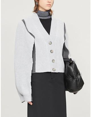 Maison Margiela Ribbed cotton-knit cardigan