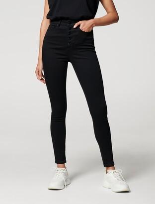 Forever New Heidi High-Rise Ankle Grazer Jeans - Black - 10