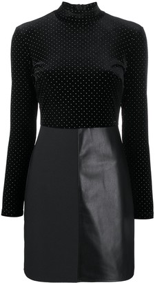 Armani Exchange Polka Dot Fitted Dress
