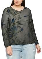 Ulla Popken Women's Mit Floraldruck Sweatshirt