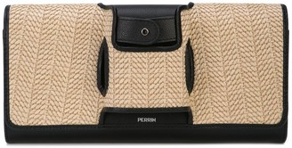 Perrin Paris Two-Tone Clutch Bag