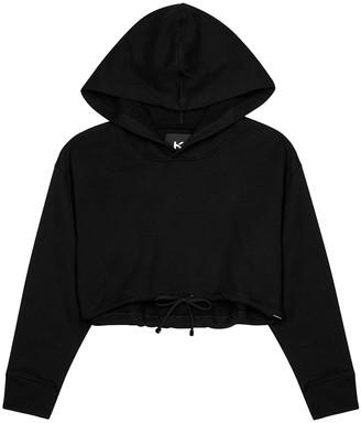 Koral Activewear Clover Black Cropped Jersey Sweatshirt