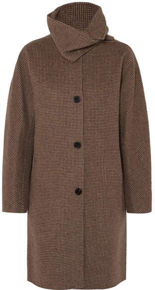 Vanessa Bruno John Checked Wool And Cashmere-blend Coat - Gray