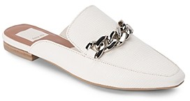 Dolce Vita Women's Hayat Almond Toe Chain Link Leather Mules