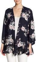 Pleione Floral Ruffle Hem Kimono