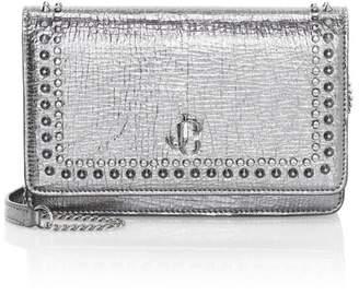 Jimmy Choo Palace Studded Metallic Leather Crossbody Bag