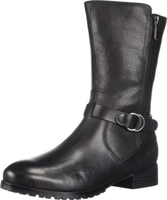 SoftWalk Women's Marlowe Motorcycle Boot Black 5.5 M US