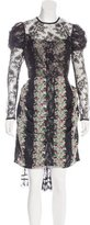 Anna Sui Lace Floral Print Dress