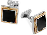 Effy Onyx Cufflinks (17-1/4mm) in Sterling Silver with 14k Gold Accents