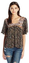 O'Neill Women's Juniors Yazmine Printed Woven Blouse