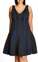 City Chic Plus Size Women's Take Me Out Scuba Knit Dress