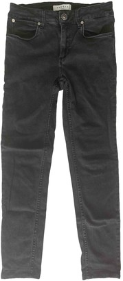 Sandro Grey Cotton - elasthane Jeans for Women