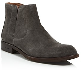 John Varvatos Men's Waverly Covered Suede Chelsea Boots