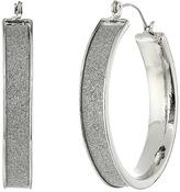 Steve Madden Glitter Hoop Earrings