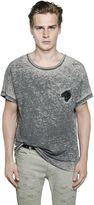 Just Cavalli Tiger Patch Cotton Jersey Blend T-Shirt