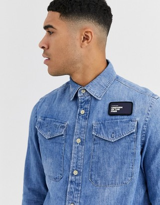G Star G-Star utility denim long sleeve shirt-Blue