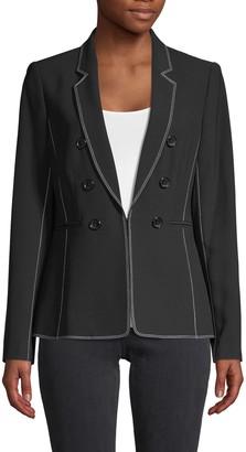 Donna Karan Double-Breasted Button Blazer