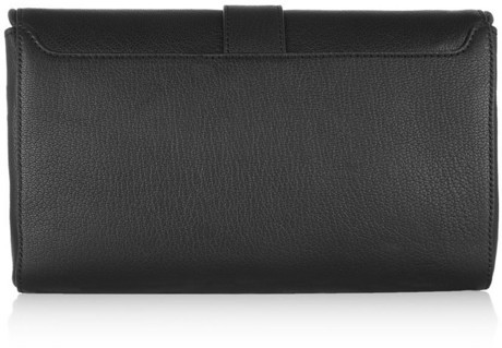 Givenchy Obsedia clutch in black leather