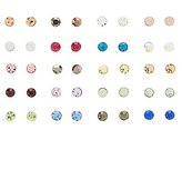 Charlotte Russe Birthstone Stud Earrings - 20 Pack