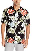 Cubavera Men's Pocketed All Over Floral Printed Short Sleeve Woven Shirt