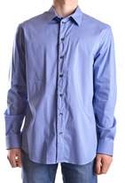 Armani Collezioni Men's Light Blue Cotton Shirt.