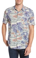 Faherty Men's Hawaiian Print Rayon Shirt