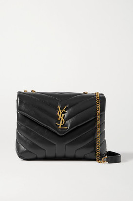 Saint Laurent Loulou Small Quilted Leather Shoulder Bag - Black