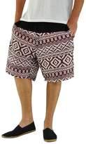 virblatt men's hippie pants with ethnic pattern bermuda shorts - Quintessenz