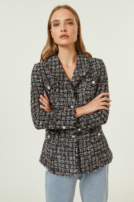 Jovonna London Santiago2 Jacket Tweed Black - extra small