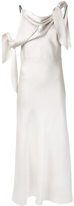CHRISTOPHER ESBER double tied asymmetric evening dress